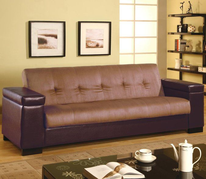 Marvelous Coaster Click Clack Storage Futon Two Tone At DAWS Home Furnishings In El  Paso