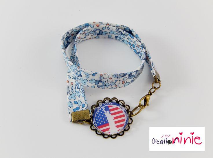 Bracelet au motif New York liberty rétro vintage : Bracelet par creation-ninie