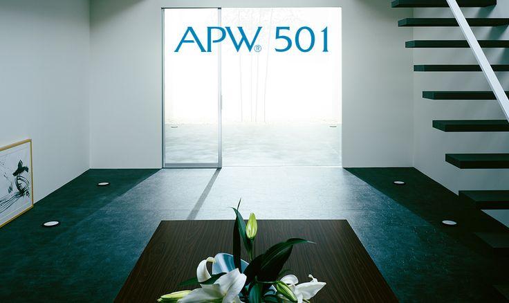 APW 501は、フレームレスの大型FIX窓とスライディング窓を組合せ、眺望性にこだわった大開口テラス窓です。窓とドア、インテリアからエクステリアまで、住空間を快適に創造するYKK AP