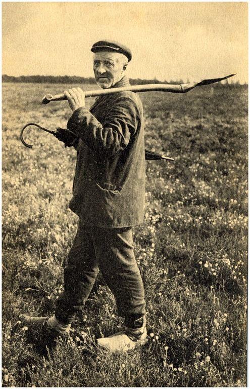 Het ontginnen met een spade - 1900