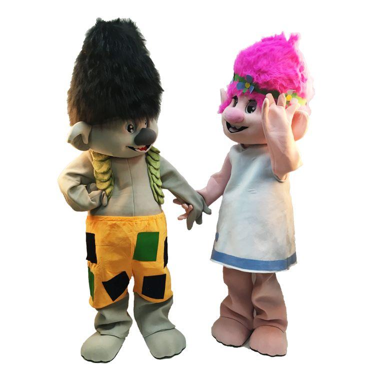 High Quality Adult Troll Mascot Costume Trolls Mascot Parade Quality Clowns Birthdays Troll Fancy Dress Party Mascot Costume