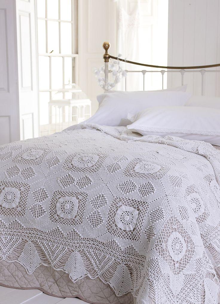 Crochet Bedspread - Hand crocheted bedspread : : SR Linen Collection