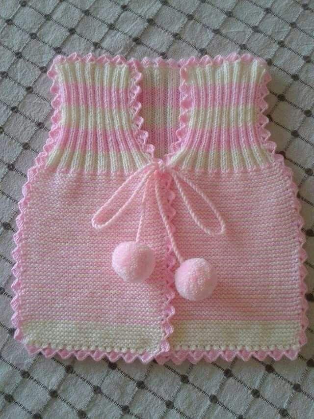chalequito bb rosa