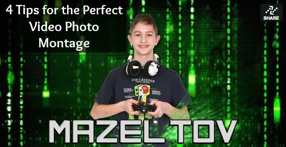 4 Tips for the Perfect Photo Video Montage from Marveous Montages | Bar & Bat Mitzvah, Sweet 16, Wedding - mazelmoments.com