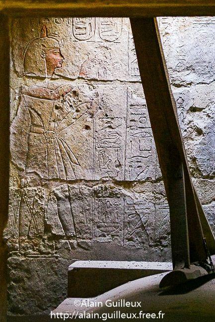 Tombeau d'Osorkon II ; salle abritant le sarcophage de Takelot Ier. Nécropole royale de Tanis. XXIIe dynastie.