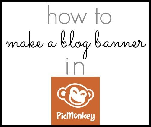 Easily Create a Blog (or Etsy) Banner for Free Using PicMonkey by Abby Glassenberg at While She Naps
