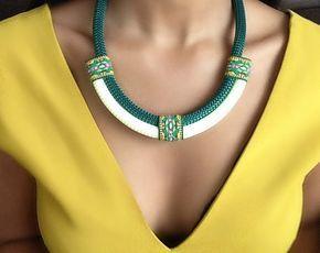 Collar verde del Amazonas - joyería étnica - collar de África - collar étnico - collar tribal - regalo de navidad - regalo para las mujeres