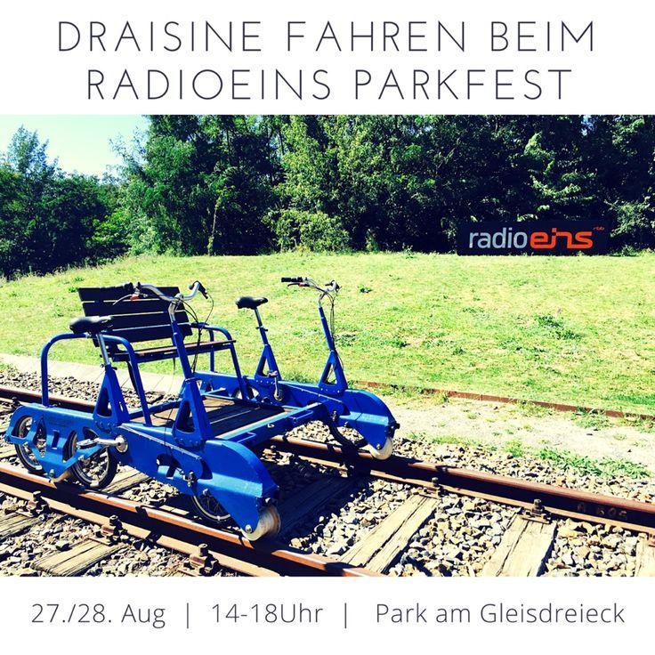 Sommer, Sonne, #Draisine fahren. Am 27./28.8 kostenfrei, mitten in Berlin. Viel Spaß beim #radio1 Parktest.