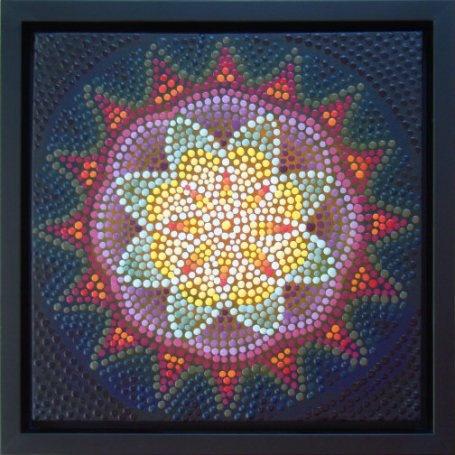 Dot art Mandala by Barbara J Carter