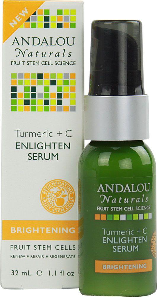 Andalou Naturals Brightening Turmeric plus C Enlighten Serum -- 1.1 fl oz