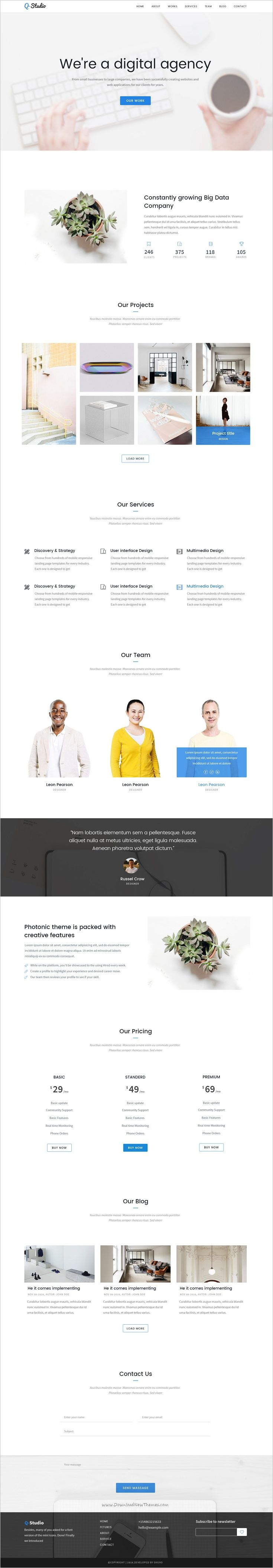 pin by web design inspiration on best responsive website template
