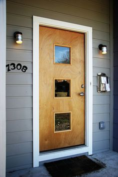 entry door with diagonal windows - Google Search