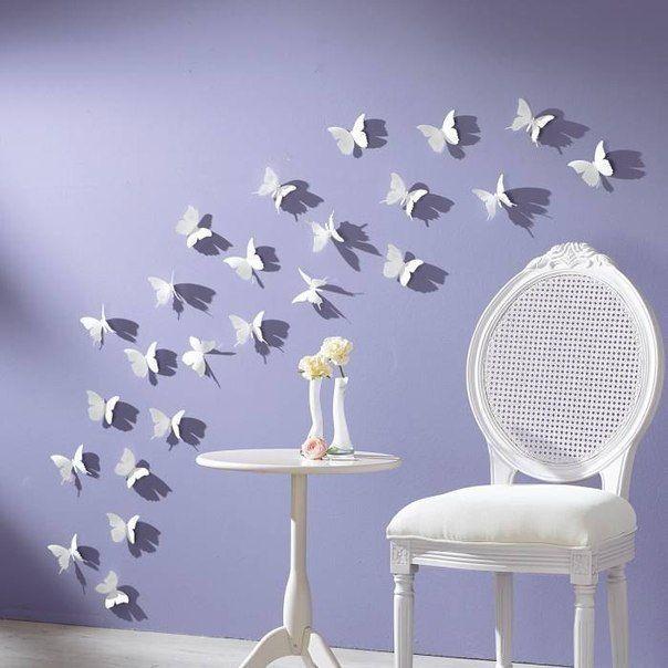 Patrones de mariposa para decorar las paredes (1)