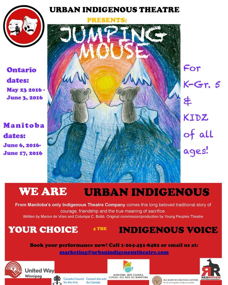 Urban Indigenous Theatre tours Jumping Mouse in 2016