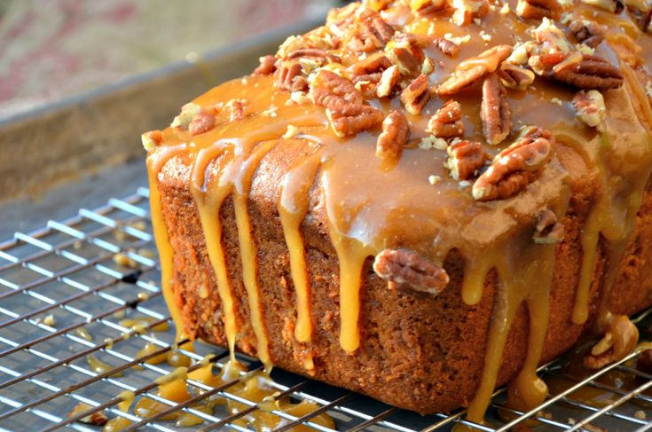 Apple Praline Bread is a rich, moist apple sweet bread with a delicious praline topping.