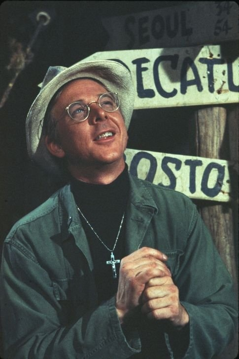 "Lt. Father Francis John Patrick Mulcahy from M*A*S*H. He is one of my favorite characters on the show. ""Jocularity."""