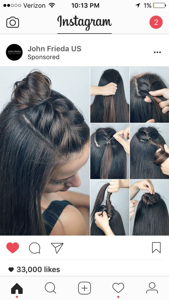 Braided half bun top knot!