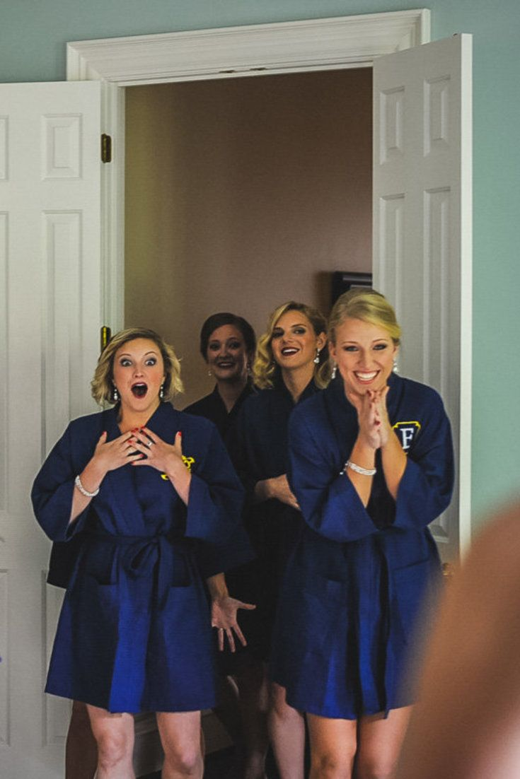 19 Bridal Party 'First Look' Photos That Capture Friendship At Its Sweetest. Which is why I DEF have to have a first look with  my girls!