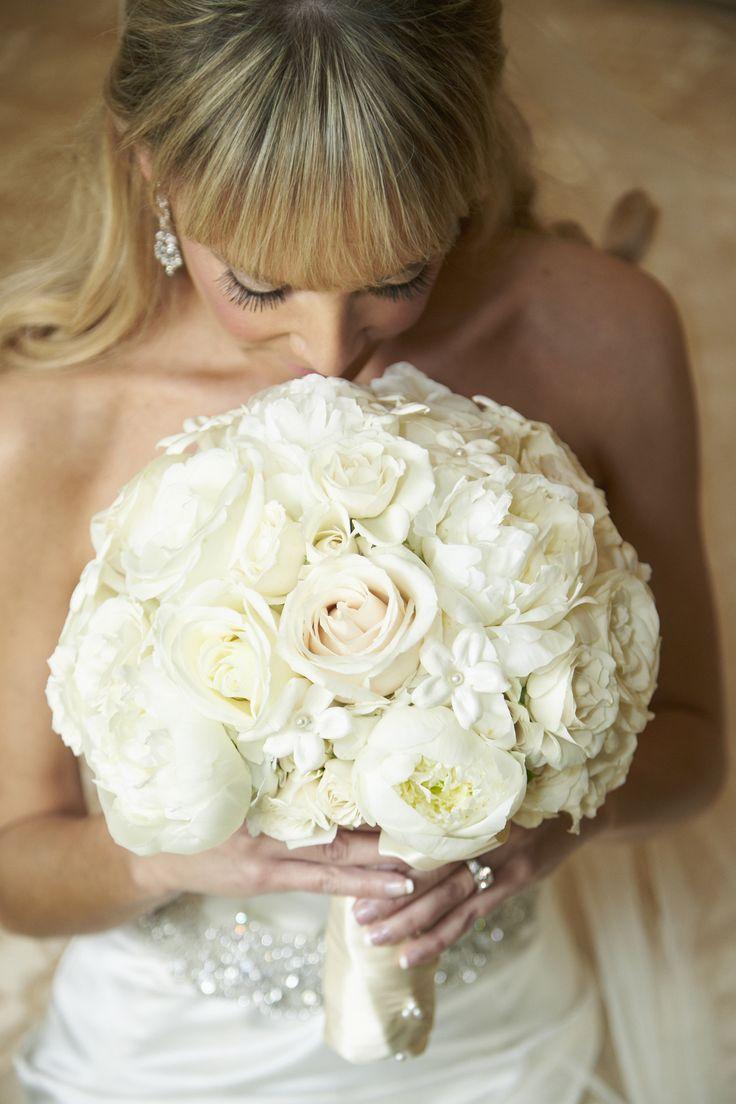 Elegant White Bridal Bouquet : Best ideas about stephanotis bouquet on