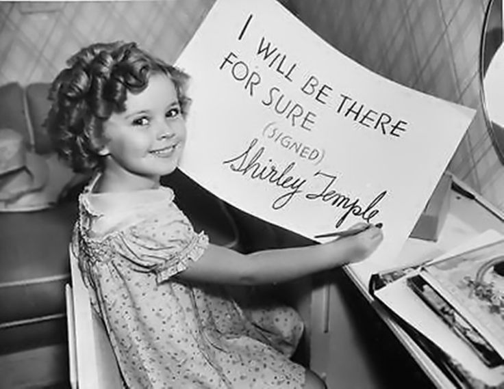 Shirley Temple in the signature—— I WILL BE THERE FOR SURE,1936.