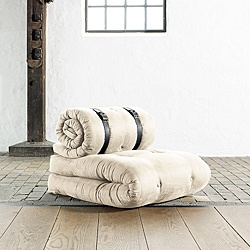 @Overstock - This Buckle Up seating and sleeping solution by Fresh Futon converts from a unique chair to a comfortable sleep surface. The futon features stylish recessed buttons and a tufted finish to complete the contemporary look of this fascinating futon chair.http://www.overstock.com/Home-Garden/Fresh-Futon-Buckle-Up-Natural-Futon-Chair/6491949/product.html?CID=214117 $289.99
