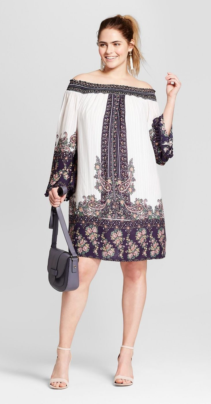 ea6e83e315 Plus Size Off the Shoulder Dress