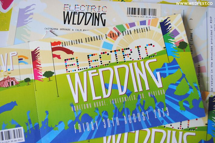 Electric Wedding - Electric Picnic Themed Wedding | WED FEST