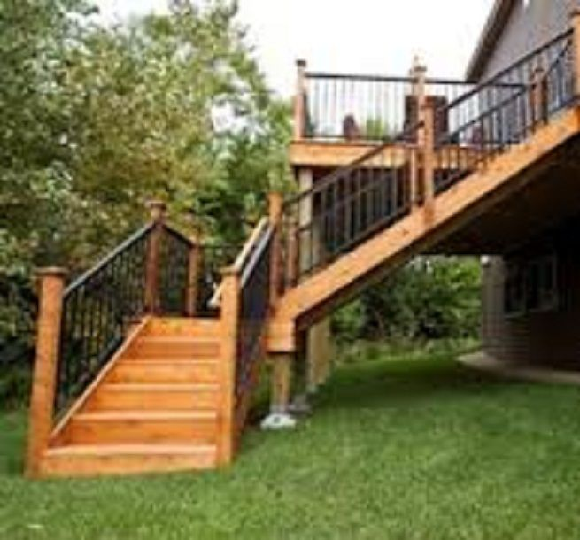 Deck Stairs Way To Enjoy The Outdoors Gathering