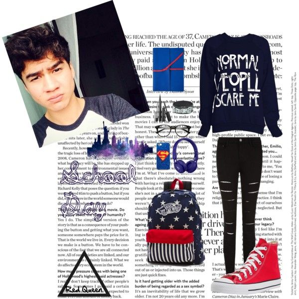 Calum by elleonora-scarlat on Polyvore featuring Converse, Vans and Beats by Dr. Dre