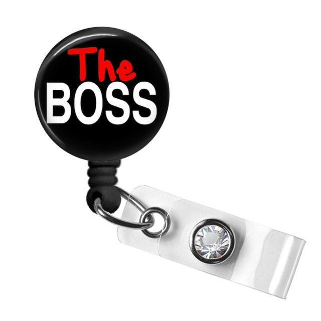 Celebrate Boss's Day October 17, 2016 with a Boss Badge Reel from TrendyBadges.com; Perfect gift for your Top Dog!