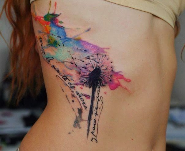 Beautiful Water Color Painting Tattoo