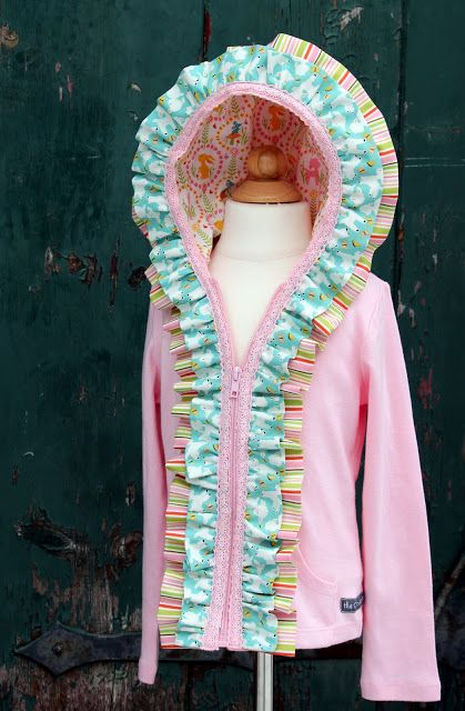 The Cottage Home: Embellished Ruffle Hoodie Tutorial