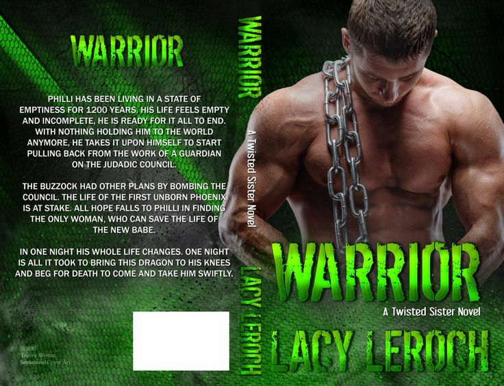 Lacy LeRoch  ⭐️Warrior ⭐️  ⭐️book two in the twisted sisters series⭐️  Philli has been living in a state of emptiness for 1200 years. His life feels empty and incomplete, He's ready for it all to end. With nothing holding him to the world anymore, He takes it upon himself to start pulling back from  the work of a guardian on the Judadic council.  The buzzock had other plan's by bombing the council. The life of the first born Phoenix is at stake. All hope fails to philli in finding the only…