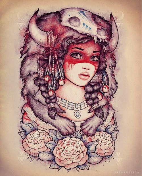 Indian Girl tattoo; In love with this! A few changes and it's highly likely that this will be my next tattoo