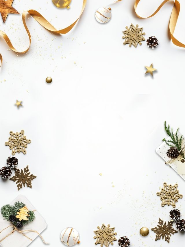 Simple White High End Atmosphere Christmas Gift Christmas Balls Snowflake Gift Christmas Background Images White Christmas Background Christmas Gift Background White and gold christmas wallpaper