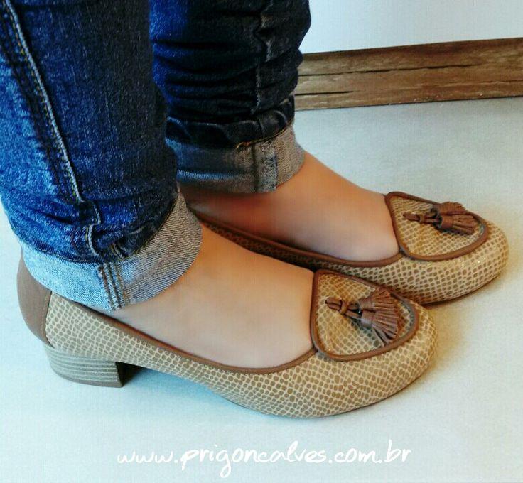 Para toda hora! Seus pés merecem conforto! 👣 Ref: 197 Adquira no site: 👉www.prigoncalves.com.br ❤COURO LEGÍTIMO