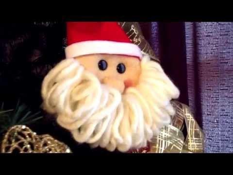 Como hacer a Santa Claus con fieltro, fácil y barato - YouTube