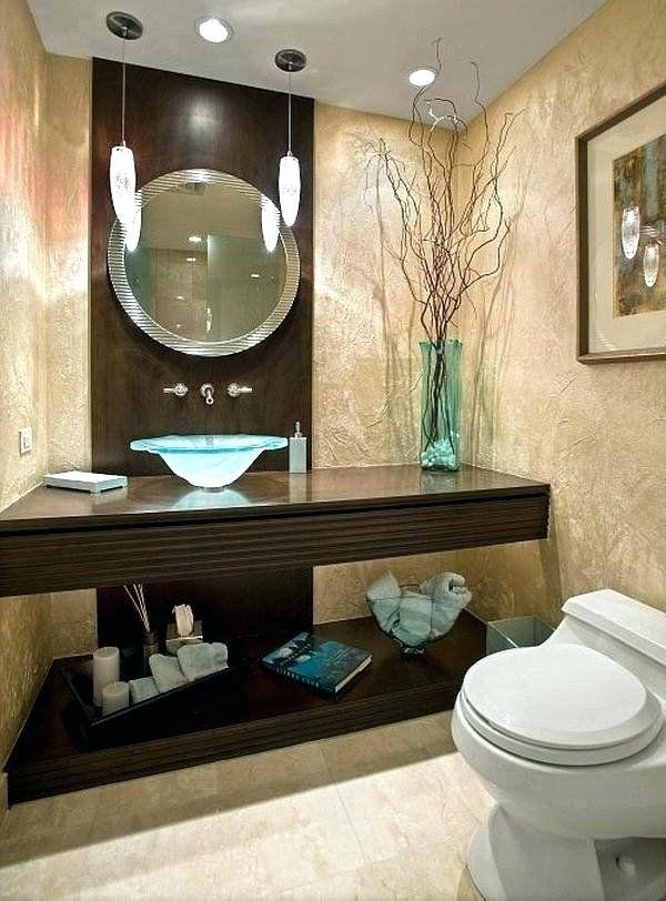 Blue And Brown Bathroom Decor Elegant Bathroom Decorating Ideas Modern Image Of Bathroom And Closet In 2020 Guest Bathroom Decor Elegant Bathroom Guest Bathroom Small