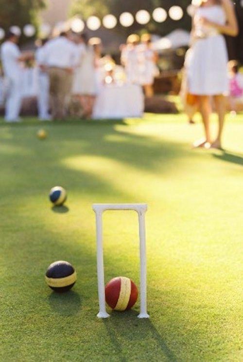 A round of croquet in the garden