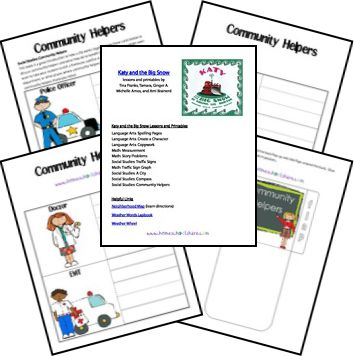 Katy and the Big Snow Lapbook Printables from Homeschool Share