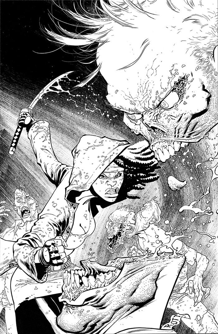 The Walking Dead 100 cover inks by RyanOttley.deviantart.com on @deviantART