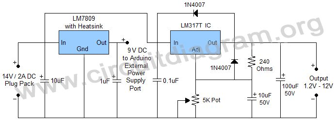 Power Supply for Arduino Projects