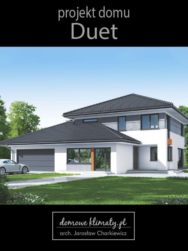 Projekt domu z zewnętrznym gabinetem lub pracownią. Ten nowoczesny i stosunkowo niewielki dom wyposażony jest w dodatkową przestrzeń umożliwiającą urządzenie miejsca pracy. Od frontu budynku zlokalizowano dodatkowe pomieszczenia, które mogą służyć jako lokal usługowy lub biurowy. Jest on wygodnie połączony z domem, a jednocześnie może stanowić niezależną funkcjonalnie przestrzeń z oddzielnym wejściem i węzłem sanitarnym.