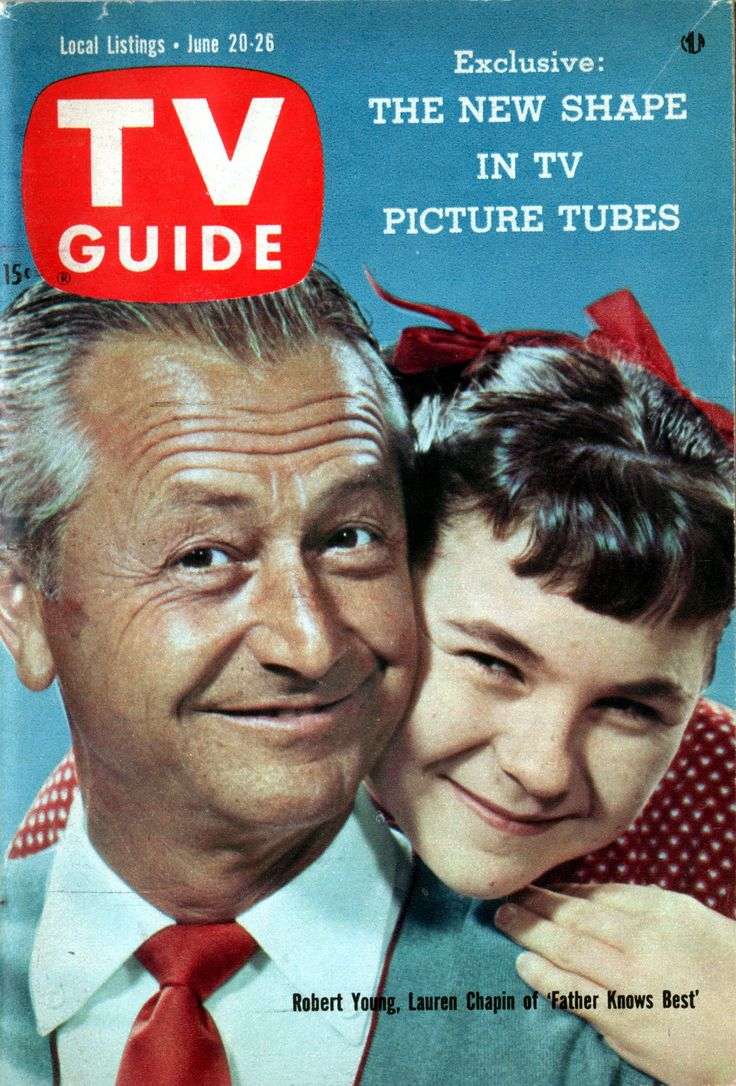 "Father Knows Best (1954-1960) Pictured: Robert Young & Lauren Chapin of ""Father Knows Best"" June 20-26, 1959, on the cover of TV Guide"