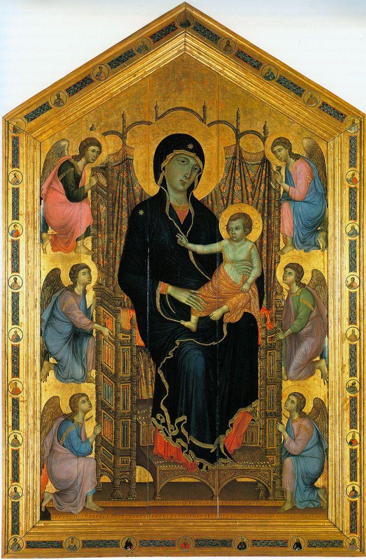 Duccio di Buoninsegna - Madonna Rucellai dipinta intorno al 1285