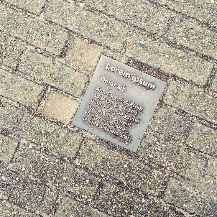 """""""Lorem ipsum""""plaque in Amsterdam"""