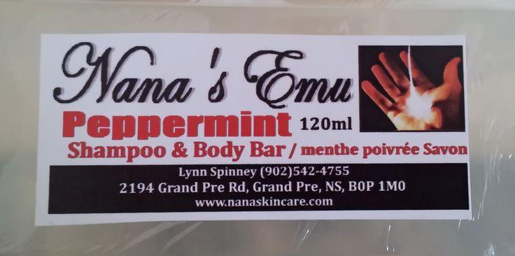 Peppermint Shampoo & Body Bar - $5.00 each http://www.nanaskincare.com/