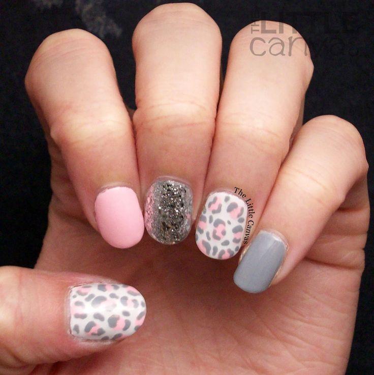 Pink Leopard Print Nail Art using Serendipity Polish Summer Sunnies
