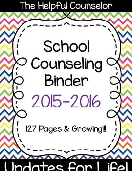 127 Page School Counseling Binder - Updates for Life!