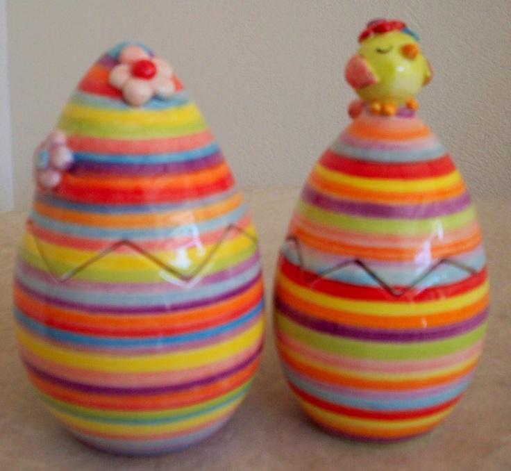 handmade ceramic eggs